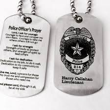 engravable dog tags stainless steel policeman dog tags because blue lives matter
