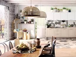 cuisine chaleureuse une cuisine familiale à l esprit scandinave et végétal modèle bohème