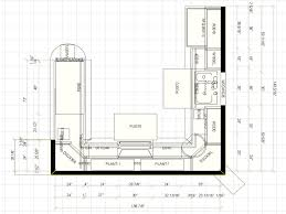 standard measurement of house plan finest small u shaped kitchen remodel floor plans has layout