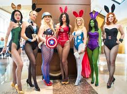 Playboy Bunny Costume Halloween Avengers Meets Playboy Bunny Costumes Comic Halloween