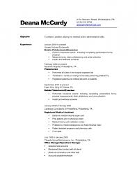 no experience phlebotomy resume examples resume template example