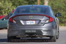 nissan altima coupe vinyl wrap spied 2017 honda civic si coupe tests wearing minimal camo