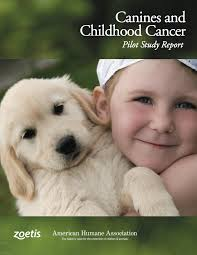 canines and childhood cancer pilot study report american humane