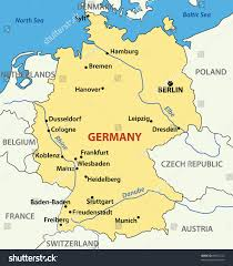 map germany and illustration map germany stock illustration 89621233