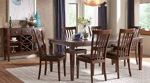 Riverdale Cherry 5 Pc Rectangle Dining Room Dining Room Sets Dark Wood