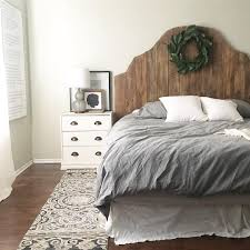 wood headboard master bedroom home decor ikea rast hack framed