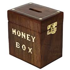 handcrafted wooden money box safe piggy bank for