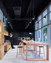 dark color schemes for industrial café