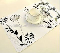 large plastic table mats eco friendly and smooth pvc cloth surface pp base table mat buy