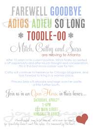 Wording For Invitation Card Goodbye Party Invitation Wording Cloveranddot Com