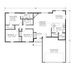simple 3 bedroom house floor plans single story savae org
