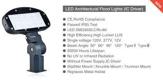 bella lux outdoor lights led architectural flood light slipfitter mount ic driver