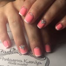 322 best half moon nails images on pinterest moon nails short