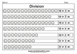 Simple Division Worksheets Math Worksheets For Kids Fun Multiplication Lesson Homework