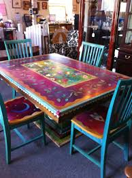 How To Build Dining Room Chairs Gorgeous Hand Painted Table And Chairs Now I Can U0027t Decide How To