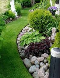 Rock Garden Beds Landscaping With River Rock River Rock Garden Ideas The
