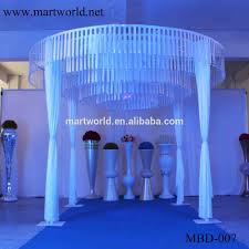 beautiful 4 m height white round shape fabric wedding mandap