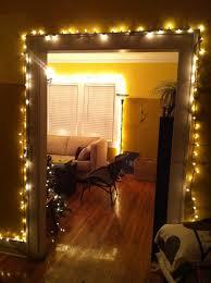 hanging christmas lights around windows living room fearsome christmas lights in living room images