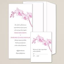 wedding invitations floral simply orchid wedding invitation floral wedding invitations