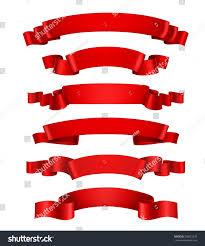 decorative ribbon realistic 3d waving decorative ribbon stock illustration