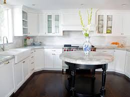 Brown And White Kitchen Cabinets Staining Kitchen Cabinets Pictures Ideas U0026 Tips From Hgtv Hgtv
