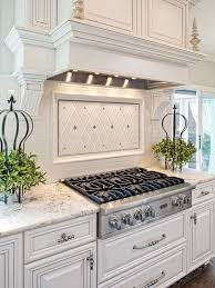 traditional backsplashes for kitchens white kitchen with light gray and silver accents and a white tile