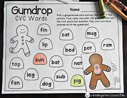 free gingerbread cvc game the kindergarten connection