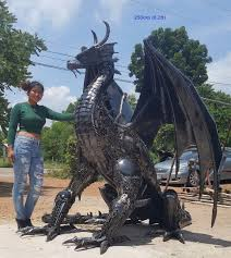 statue sculpture size metal animal design