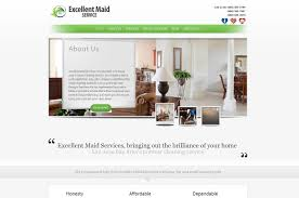 web design for excellent maid service ozzy rodriguez