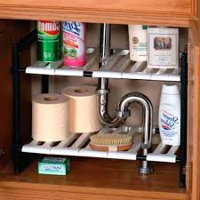easy home expandable under sink shelf under sink shelf chanjo