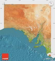 australia satellite map satellite map of south australia single color outside