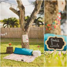 this backyard picnic bridal shower focused on love and faith