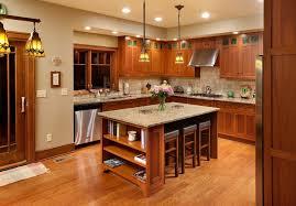 Craftsman Style Kitchen Lighting Craftsman Style Kitchens Kitchen With Lyptus Pendant Lights