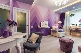dark purple living room white shag wool rug bay window inside