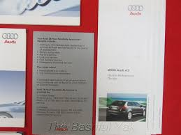2006 audi a3 a 3 owners manual amazon com books