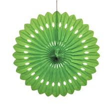 paper fan circle decorations lime green paper fan decoration jolly good party