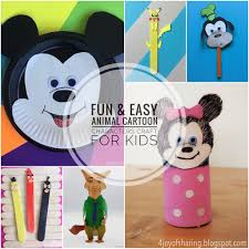 the joy of sharing 20 fun and easy animal crafts for kids