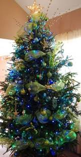 what type of christmas tree decoration are you peacock blue