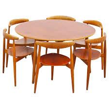 dining set by hans wegner fritz hansen fh 4103 hjerte teak danish