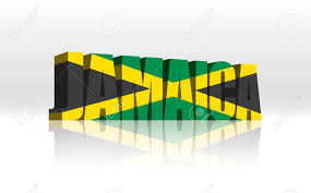 Colors Of Jamaican Flag 3d Jamaica Word Text Flag Royalty Free Cliparts Vectors And