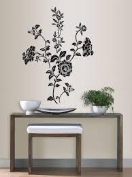 brocade black floral wall art sticker kit