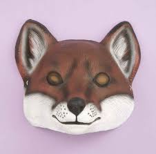 city fox halloween party animal masks plastic