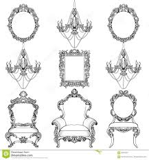 rich baroque rococo furniture and frames set luxury carved