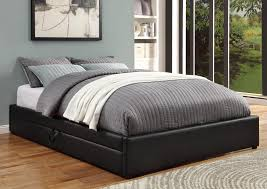 Bowery Queen Storage Bed by Hunter Queen Size Bed 300386 Coaster Furniture Modern Bedrooms