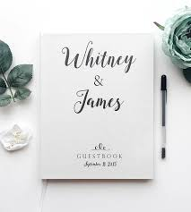 wedding guestbook custom name calligraphy wedding guest book stationery