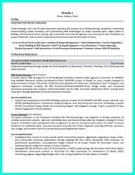 Resume Manager Perfect Construction Manager Resume To Get Approved