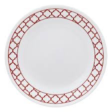 Corelle 76 Piece Dinnerware Set Livingware Crimson Trellis 74 Pc Dinnerware Set Corelle