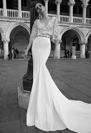 inbal dror 15 10 two piece wedding dress lace crop top with bell
