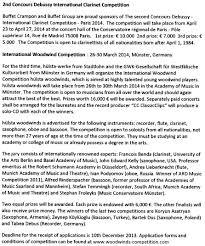 Buffet International Clarinet by January 2014 News
