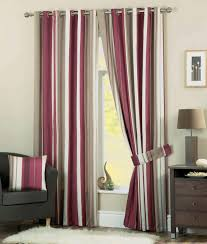 Living Room Curtain Looks Striped Aubergine Curtains Striped Curtains For Real Dashing And